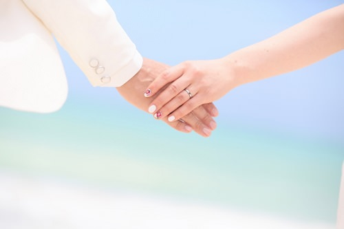 結婚した二人の画像