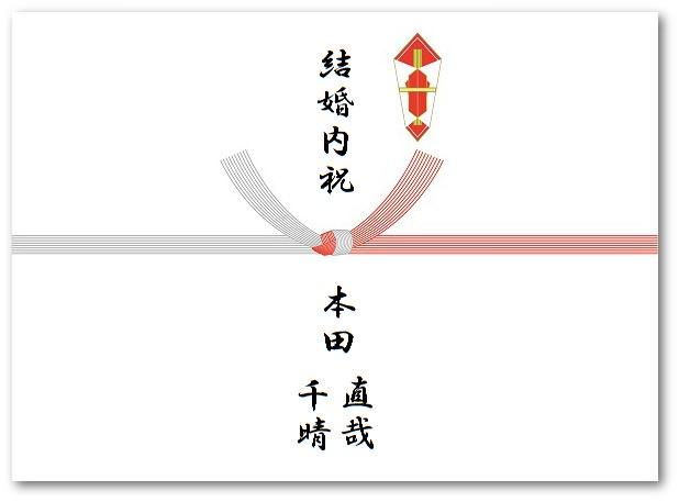 結婚内祝いの熨斗の書き方画像
