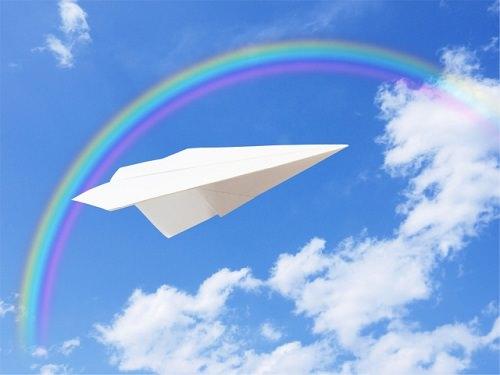 紙飛行機の画像